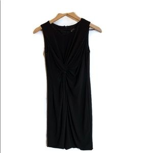 Simple and Elegant Black Knotted Cocktail Dress